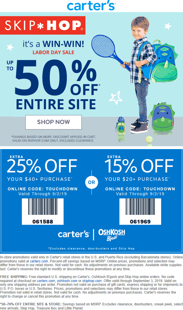 Carters coupons & promo code for [December 2020]