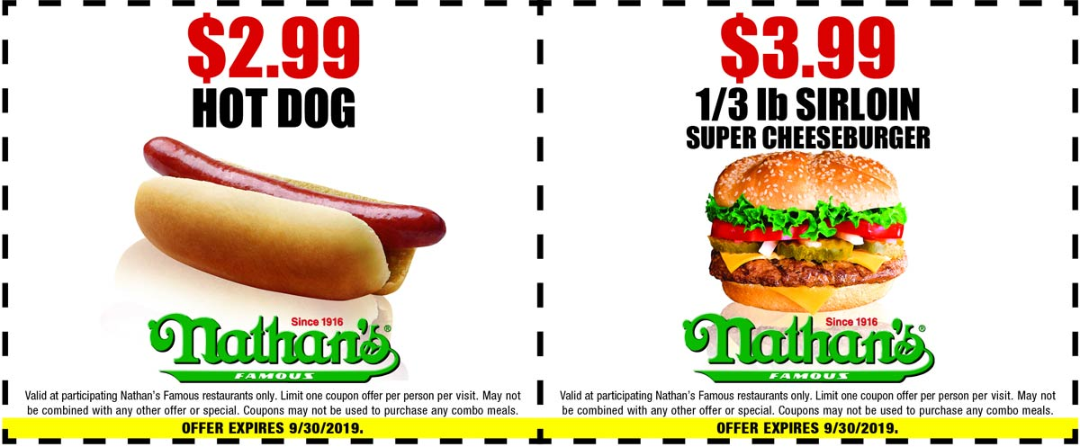 Nathans Famous coupons & promo code for [December 2020]
