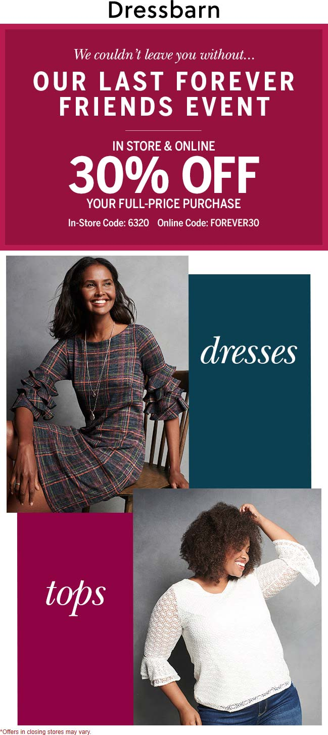 Dressbarn coupons & promo code for [January 2021]