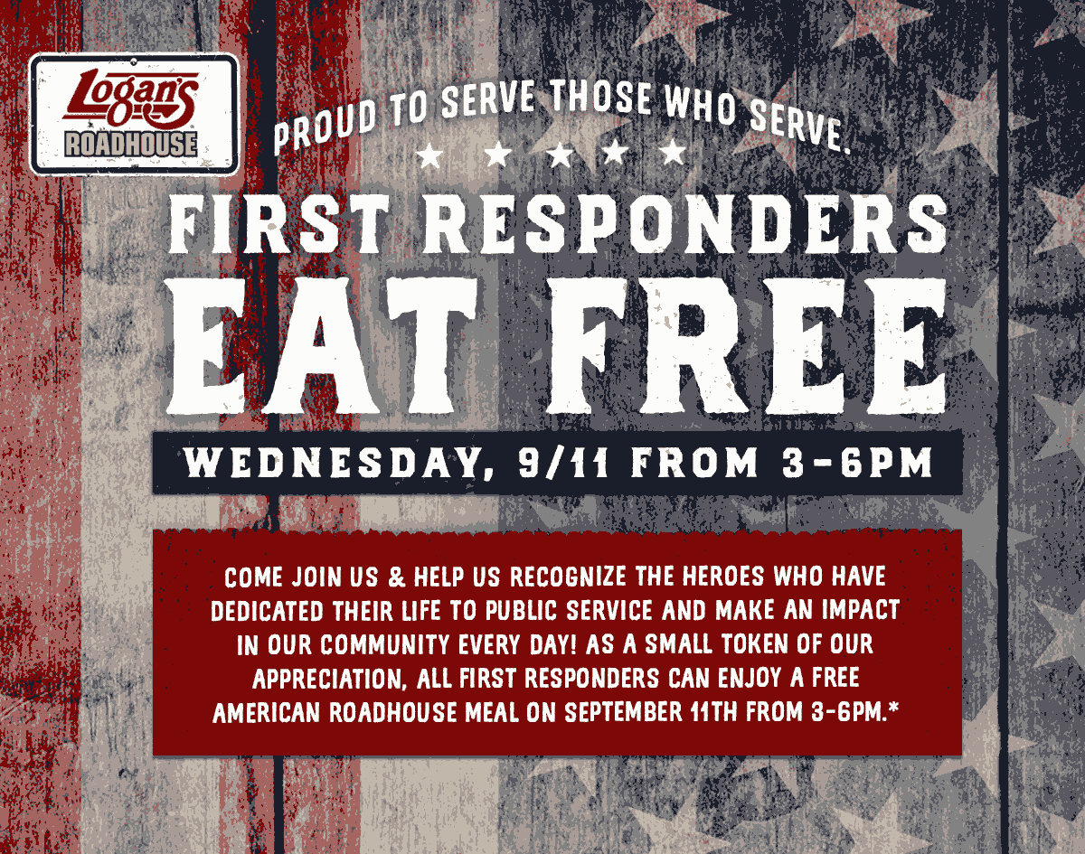 Logans Roadhouse Coupon February 2020 First responders eat free Wednesday at Logans Roadhouse