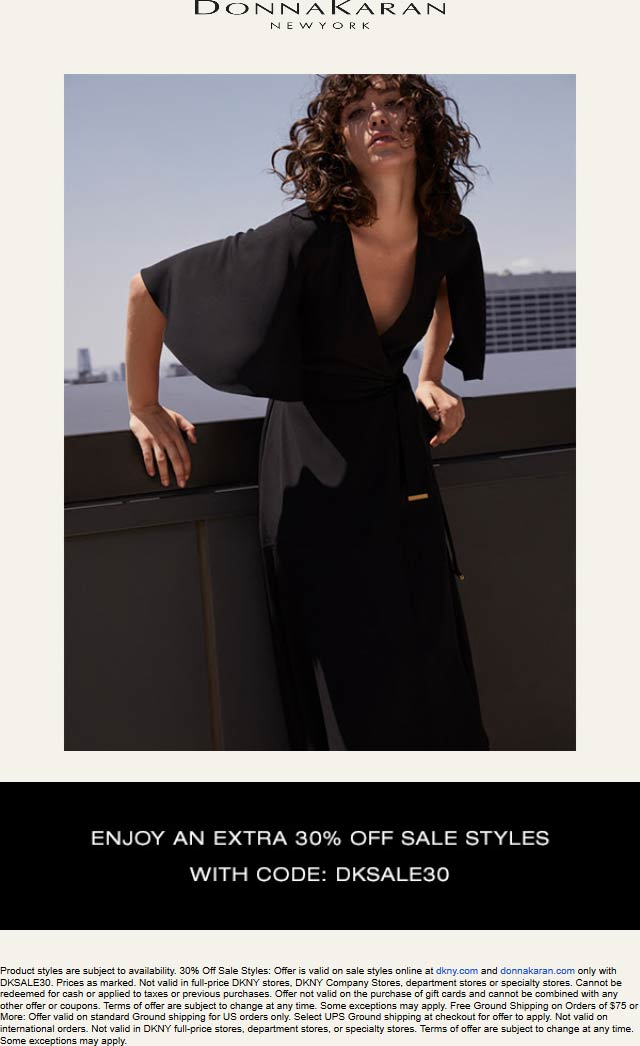 Donna Karan Coupon February 2020 Extra 30% off sale items online at Donna Karan via promo code DKSALE30