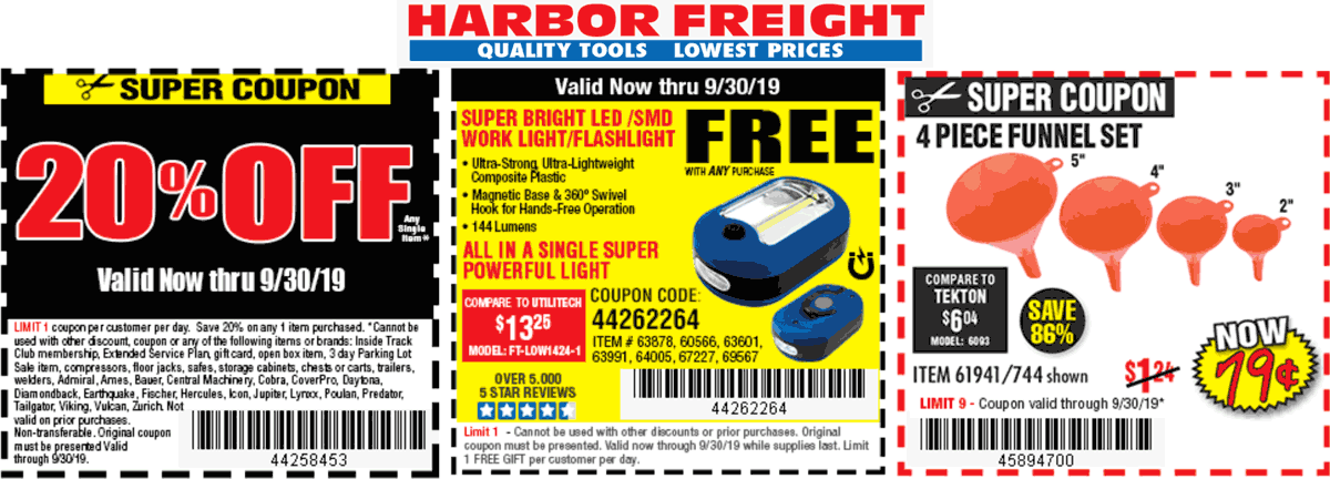 Harbor Freight coupons & promo code for [April 2020]