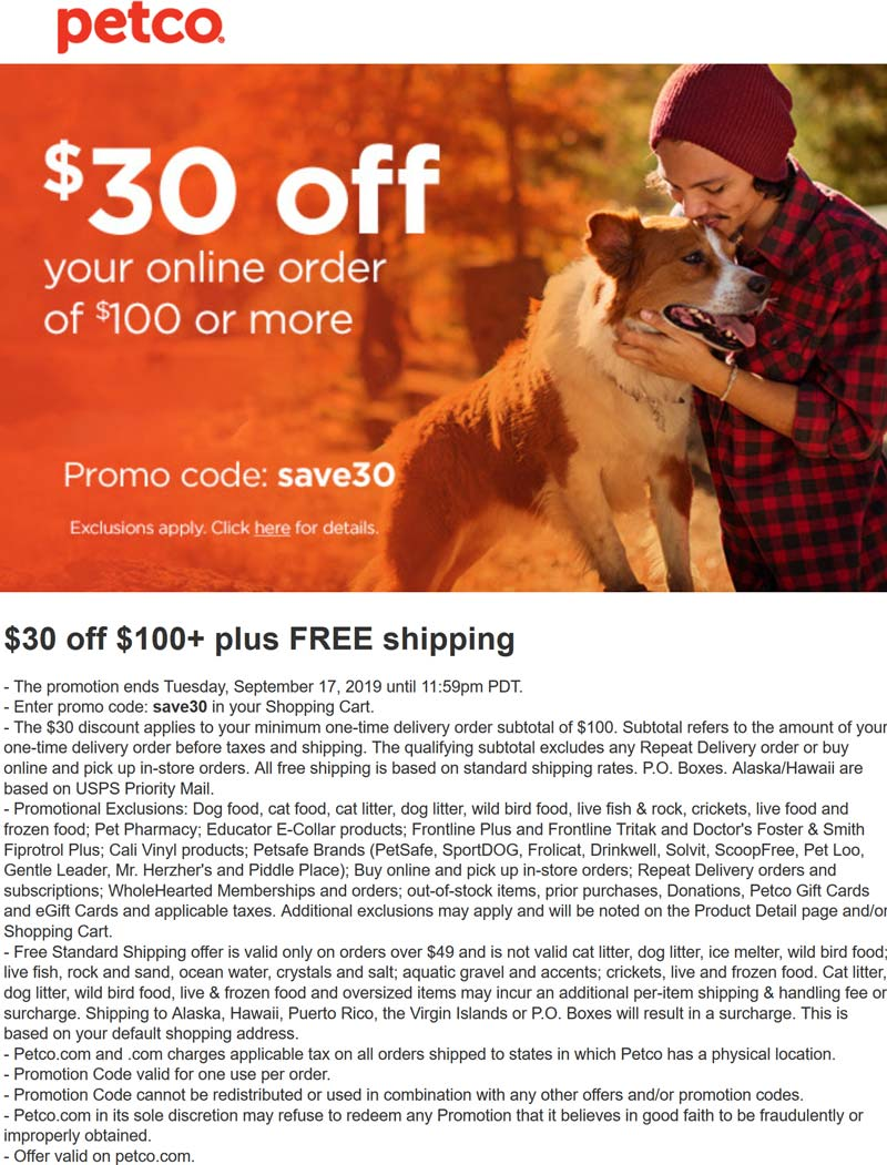 Petco coupons & promo code for [April 2020]