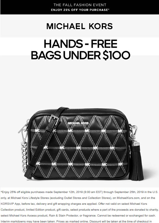 Michael Kors coupons & promo code for [July 2020]