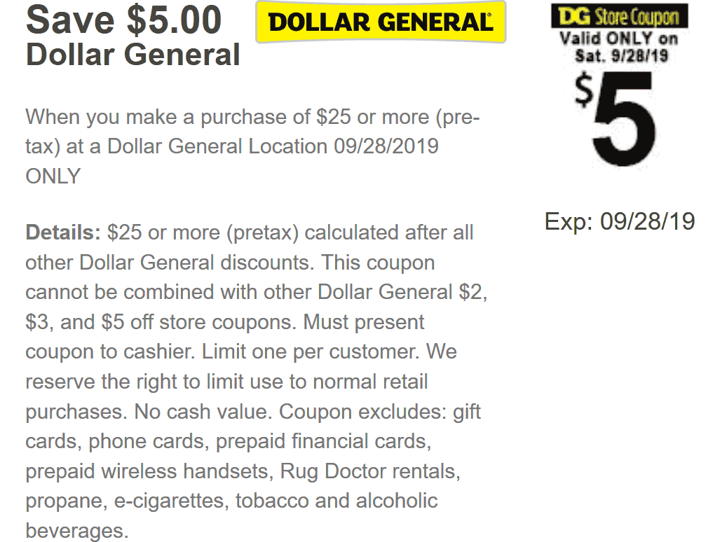 Dollar General coupons & promo code for [January 2021]