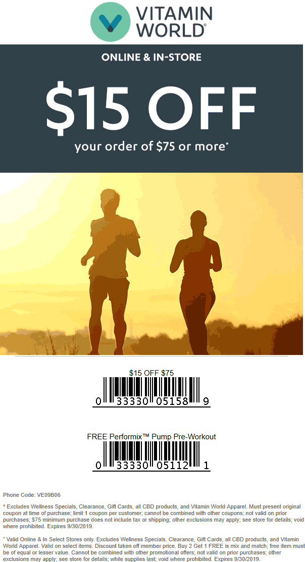 Vitamin World coupons & promo code for [April 2021]