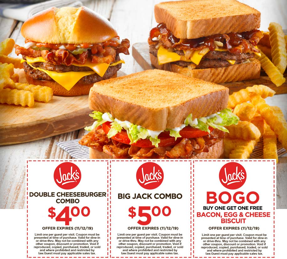 Jacks coupons & promo code for [July 2020]