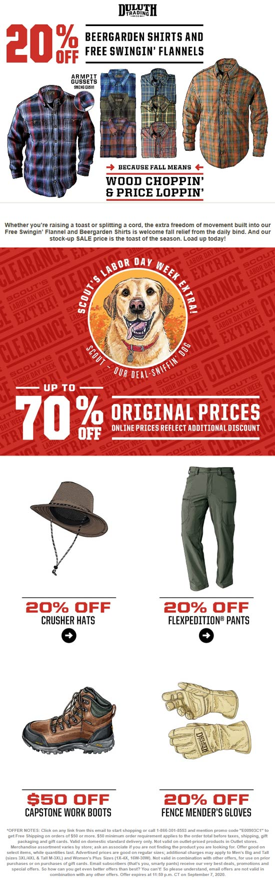 Duluth Trading Co stores Coupon  20% off beergarden shirts & flannels at Duluth Trading Co #duluthtradingco