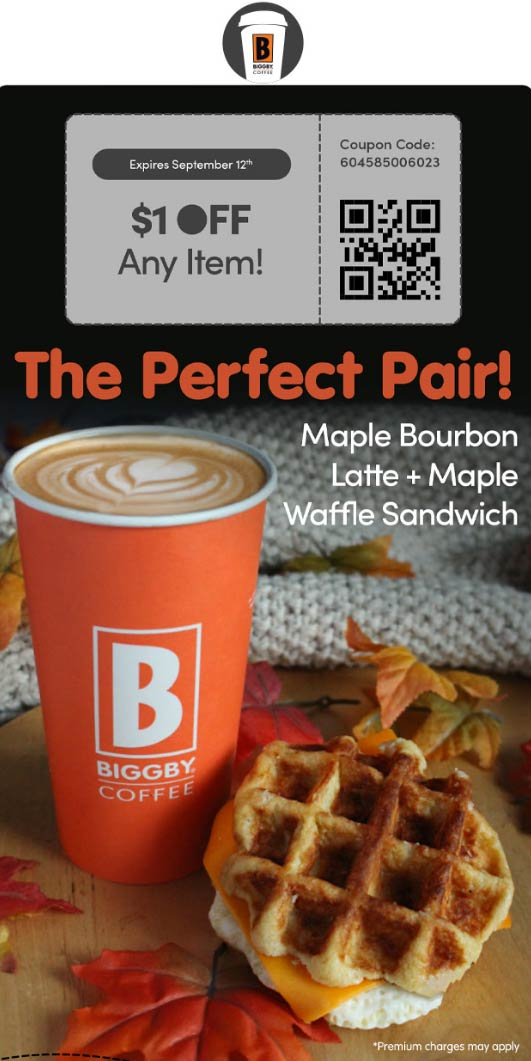 November 2020 1 Off Your Drink At Biggby Coffee Biggbycoffee Coupon Promo Code The Coupons App