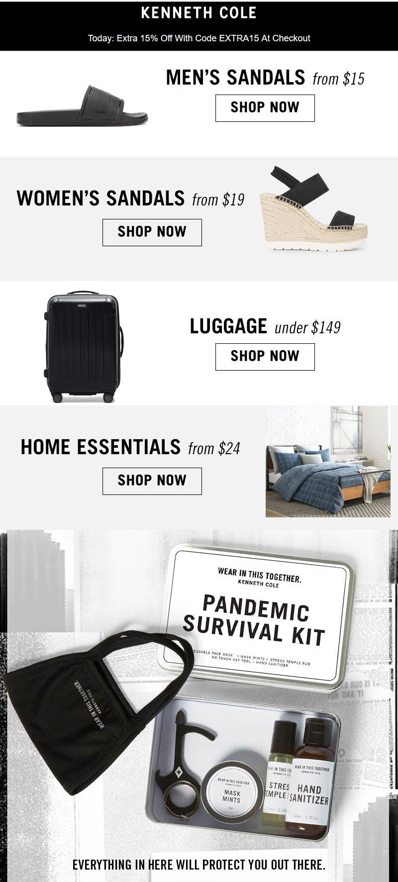 Kenneth Cole coupons & promo code for [September 2020]