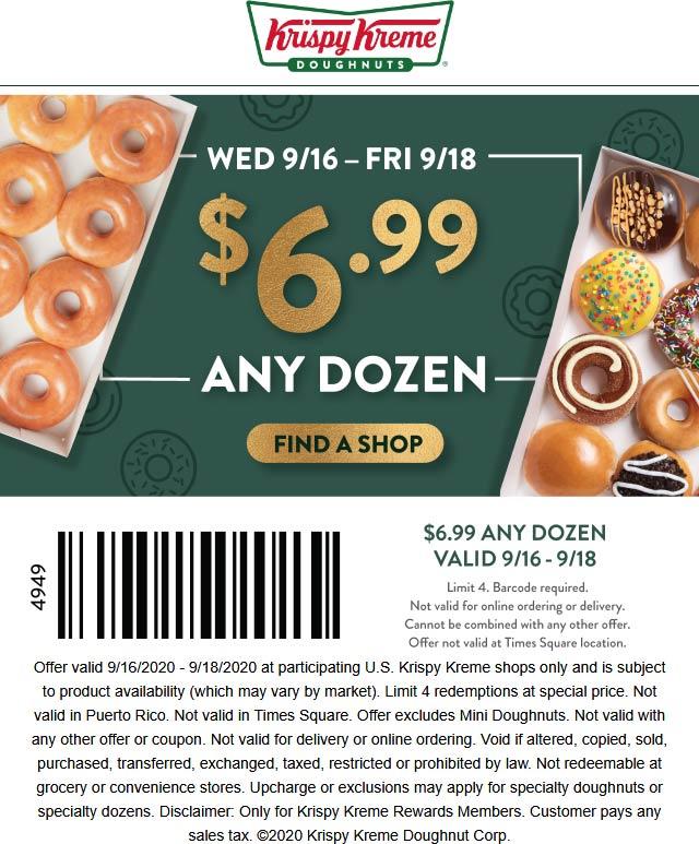 Krispy Kreme coupons & promo code for [September 2020]