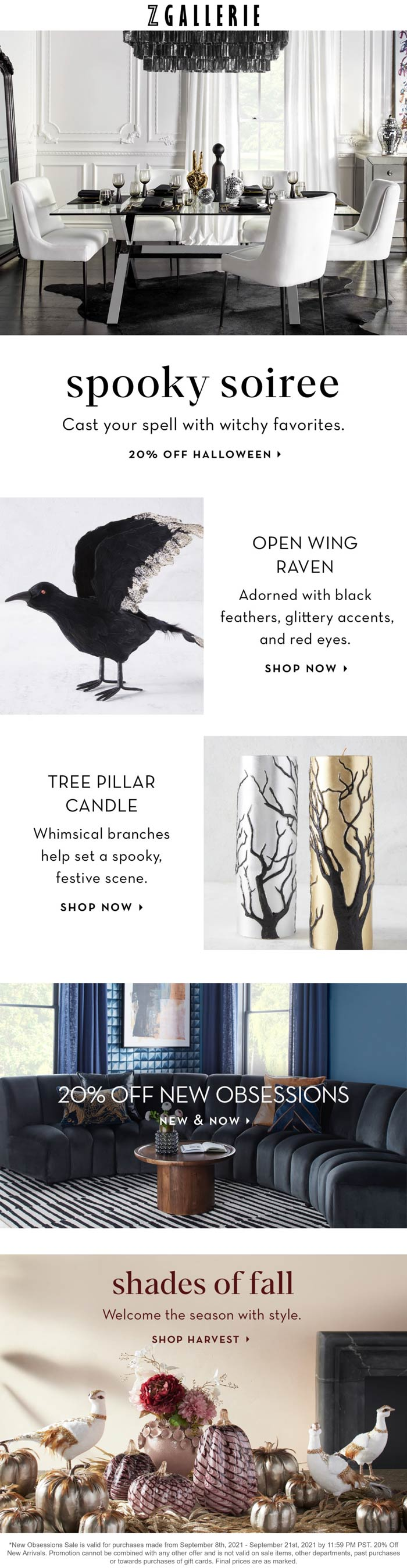 Z Gallerie stores Coupon  20% off new arrivals at Z Gallerie #zgallerie