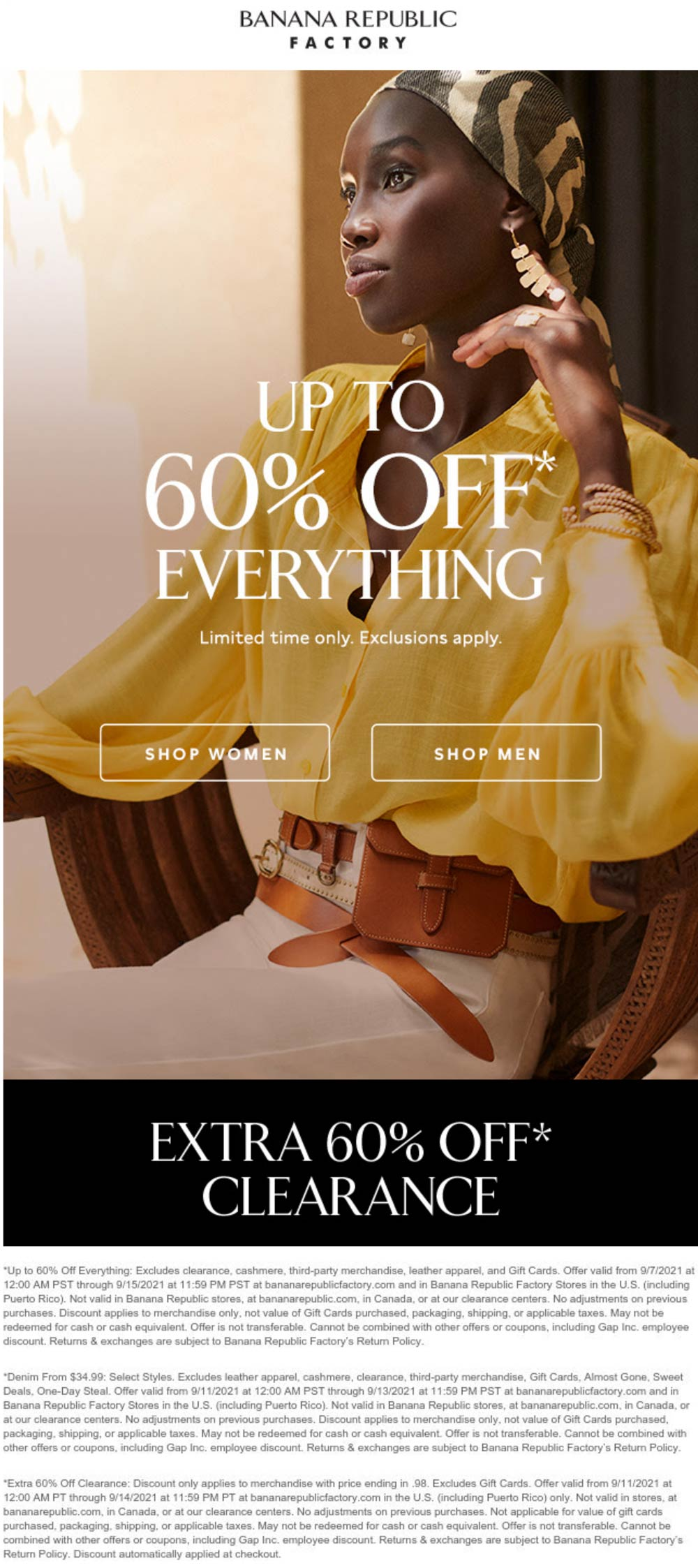Banana Republic Factory stores Coupon  Extra 60% off clearance & more online at Banana Republic Factory #bananarepublicfactory
