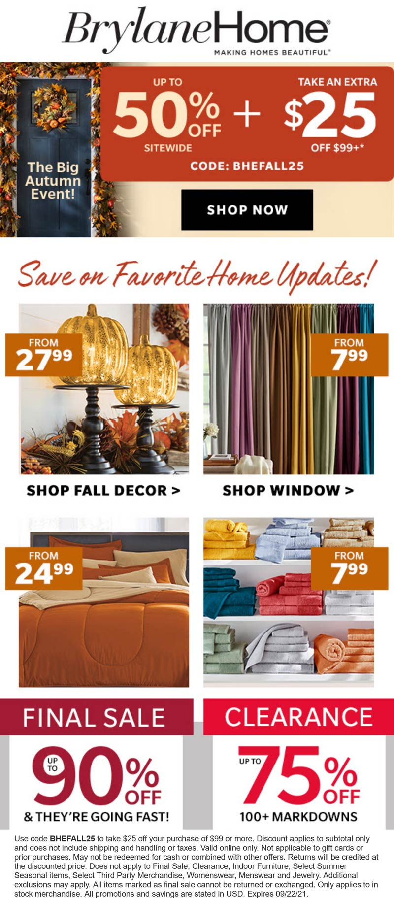 Brylane Home coupons & promo code for [September 2021]