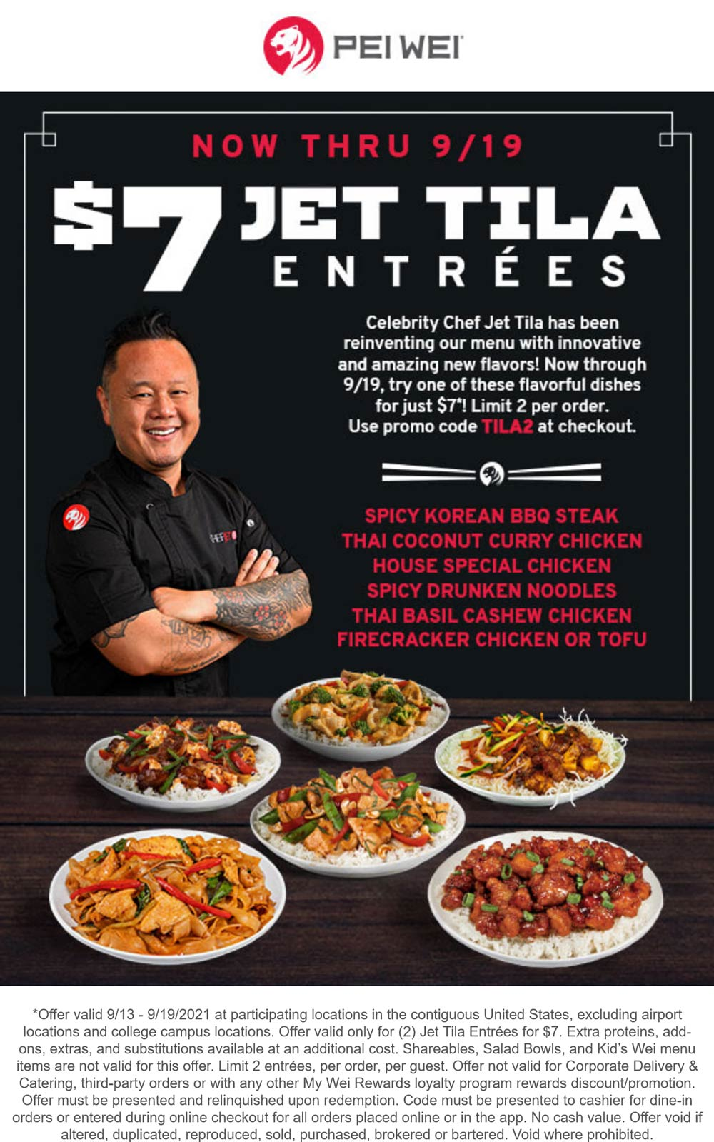 Pei Wei coupons & promo code for [October 2021]