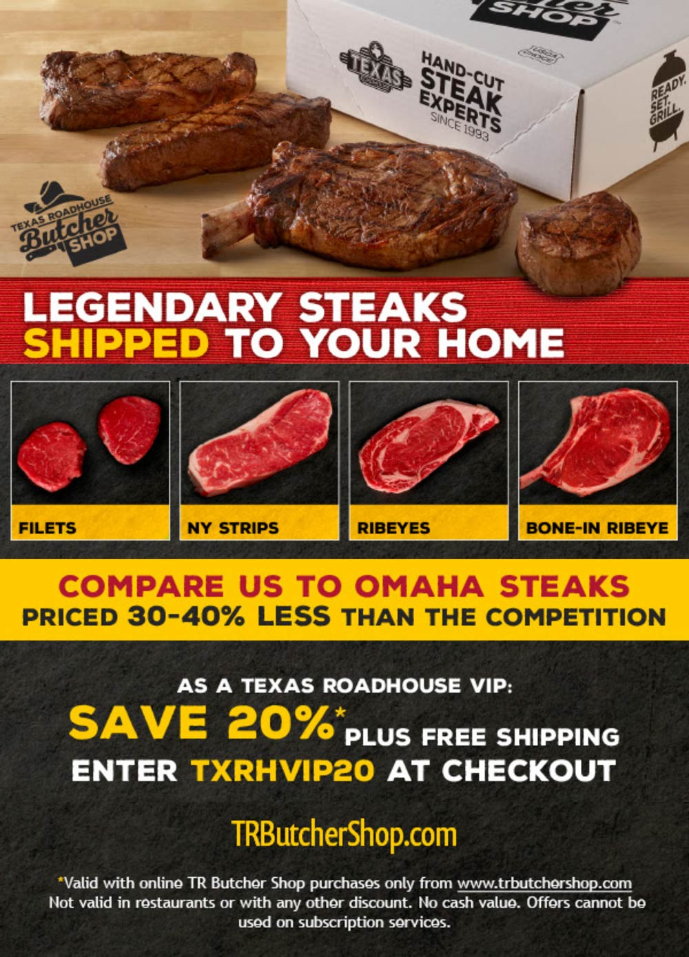 Texas Roadhouse coupons & promo code for [October 2021]